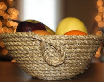 Handmade, durable rope bowl