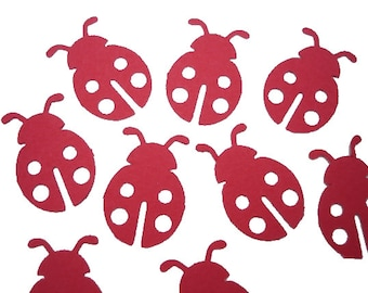 25 Red Ladybug Confetti, 1st Birthday Party Supplies - No282