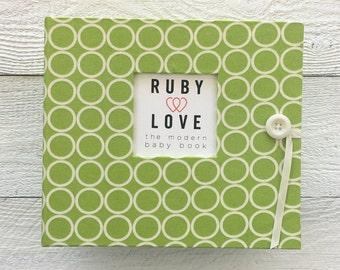 BABY BOOK | Lime Green MOD Circles Album