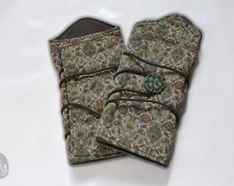 Fingerless gloves, wrist warmers liberty floral