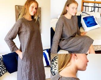 Linen Dress Natural Earth