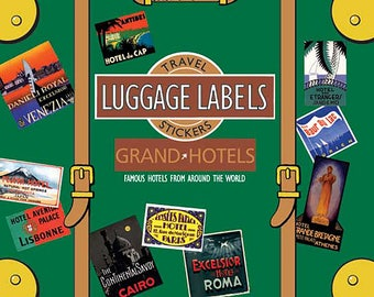 Grand Hotels Vintage Luggage Labels