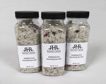 Hibiscus spa salts, Bridesmaid Gift, Spa Day