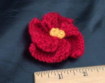 Pinwheel Flower- Red