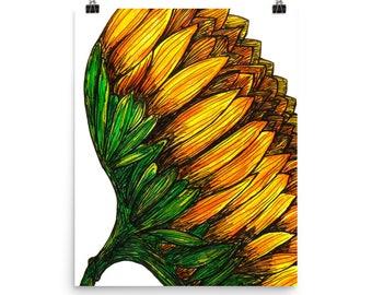 Sunflower Art Print - Fine Art Print - Flowers