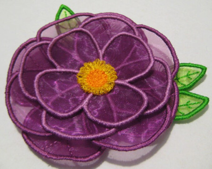 Free Standling Applique 3D Flower Project #389 ( Machine Embroidery Design from ATW )