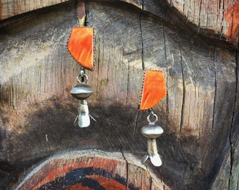 Spiny Oyster Sterling Silver Squash Blossom Earrings for Her Native American Navajo Jewelry