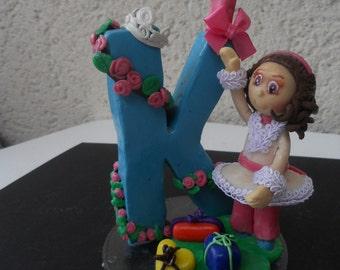 cake topper anniversaire enfant porcelaine froide à partir de 30 euros, réservé