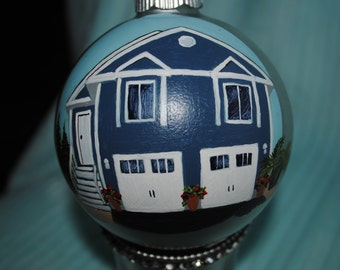 Custom Hand Painted New Home Ornament  - sold