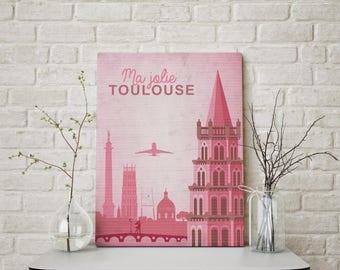 My pretty Toulouse A3 poster