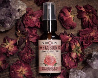 Hair Perfume Texture Spray - PASSION - Organic Air Freshener Rose + Cardamom - 1oz//30ml