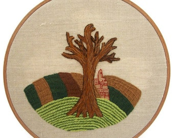 """Traditional embroidery kit """"Hiver en Champagne"""""""