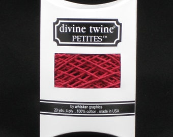 NEW-Divine Twine Petites (20 yards)-SOLID RED