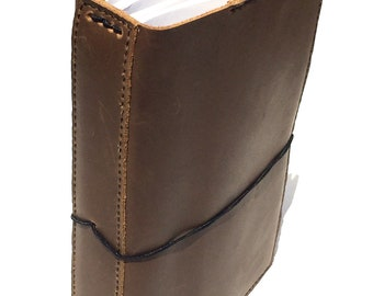Oiled Leather Travelers Notebook, Soft High Quality Leather with Pockets