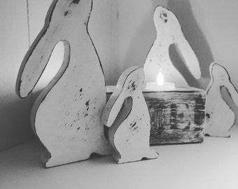 Snow Hares ( Pair )