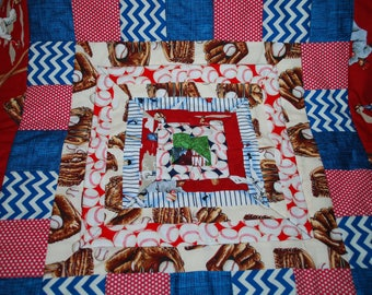 Baseball Carseat and Stroller Quilt