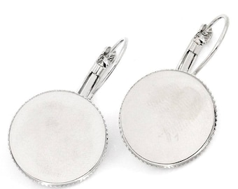Pairs earrings Lullaby for Cabochons 18 mm