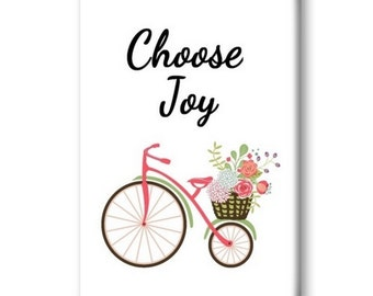 Choose Joy Magnet, Refrigerator Magnet, Kitchen Magnet - RM001