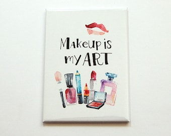 Large Pocket mirror, Makeup Mirror, pocket mirror, rectangle mirror, Gift for her, Makeup is my art, Love Makeup, Makeup Artist (5511)