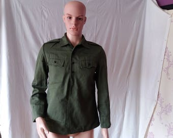 Vintage 1980's Bulgarian Army Soldier Shirt - NEW