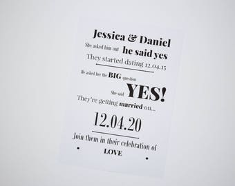 Wedding story -Save the date