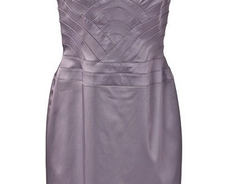 Silver Sateen Halter Dress (Never Worn)