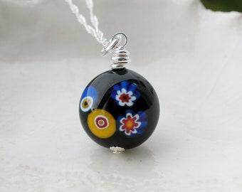 Millefiori Murano Glass Necklace