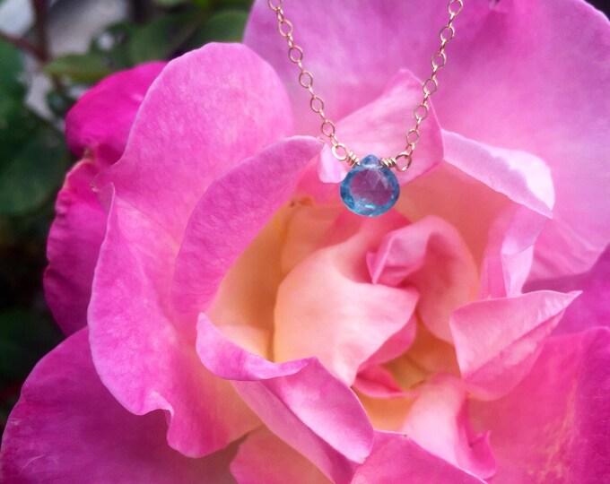 Sky Blue Apatite Necklace