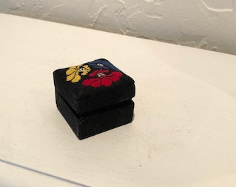 Small Embroidered Jewelry Box