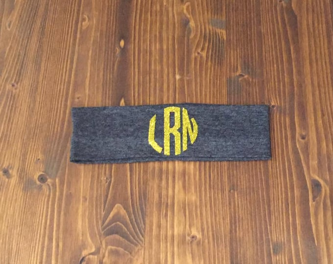 CIRCLE monogram cotton knit headband custom-12 Colors