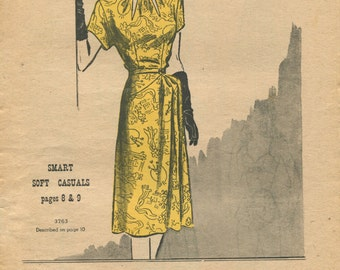 Butterick Fashion News sewing pattern booklet April 1946 in PDF