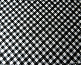 """One Yard Cut Quilt Fabric, Black & White, """"Apple Blossom Festival"""" by Maria Kalinowski for Kanvas, Sewing-Quilting-Craft Supplies"""