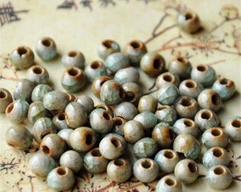 Ceramic oval beads
