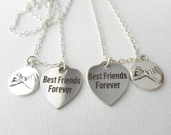 2 Pinky Promise, Best Friends Forever- Necklaces/ Pinky Promise gift, promise necklace, Pinky promise jewelry