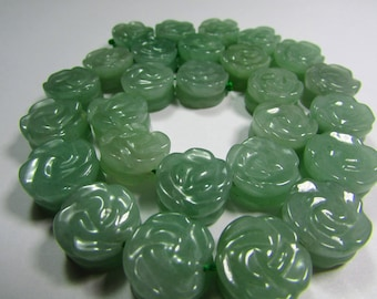 1 pink carved Aventurine 14 mm