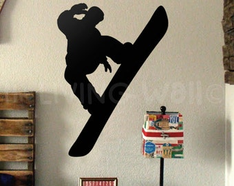 Snowboard Wall Decal, Snowboard Wall Decor for Bedroom, Snowboard Wall Art, Snowboard Removable Vinyl Wall Sticker, Sports Wall Decals