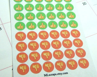 Thumbs Up/Thumbs Down Planner Stickers