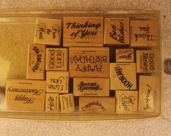 Great Greetings Stampin' Up 1992 (Set of 18 + bonus stamp)