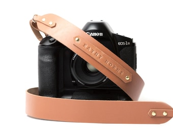 Personalized camera strap leather DSLR camera strap