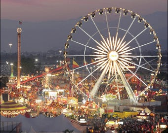 Poster, Many Sizes Available; Los Angeles County Fair At Dusk #031715