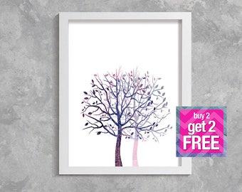 trees art, Printable Art, Modern Wall Art, Wall Decor, Digital Download,  trees print, trees,