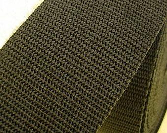 Black Polypropylene Webbing 5cm Wide  - 1 Metre - Ideal for bags, purses, totes