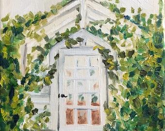 Original oil painting - greenhouse