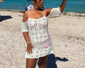 Crochet Top - Crochet Swimsuit Cover Pattern - Crochet Beach Cover Up Pattern - Crochet Top Pattern Plus Size Crochet - Crochet shirt GuChet