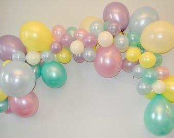 Balloon Garland Unicorn.Balloons Balloon Garland Kit.Rainbow Unicorn Party. Pastel Rainbow. Unicorn Birthday Decorations. Balloon Arch