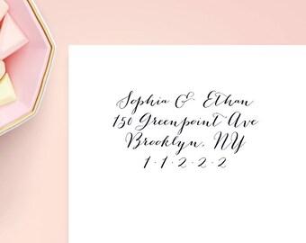 Transparent Return Address Label, Custom 2 5/8 x 1 inch Rectangular, Transparent Label, Sticker, Wedding Announcements,Calligraphy,SET OF 30