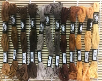 Embroidery Floss - Finca Milano 100% Egyptian Cotton - Browns