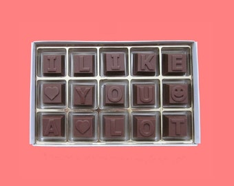 I Like You A Lot First Month Anniversary Gift for Him Funny Cute Gift for Men Gift for Guy Flirting Idea Gift for BF Milk Chocolate Message