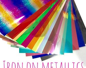 Metallic HTV - Heat Transfer Vinyl - Iron On - 19 colours