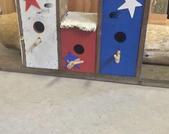 Rustic Patriotic Birdhouse